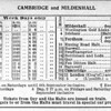 Summer 1954 Timetable.  Cambridge to Mildenhall