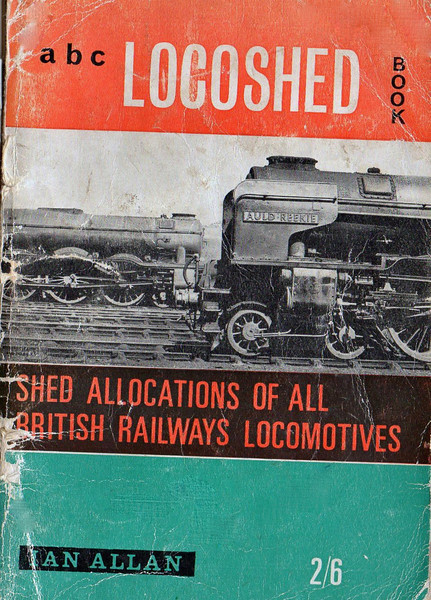Another essential loco spotters guide. The 1964 Loco Shed Book now rather tatty.