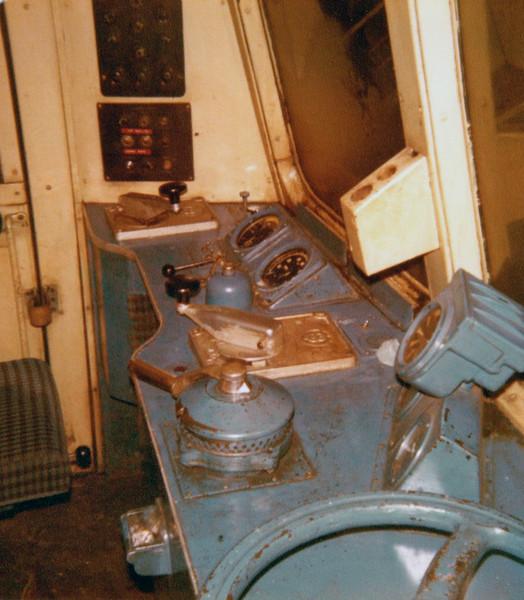 Class 101 Metropolitan Cammell  E56373. Driver's cab.  28th December 1979.