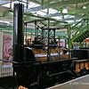 """""""Locomotion"""" built by Robert Stephenson and first loco to be used on public railway, driven by George Stephenson between Shildon and Stockton"""