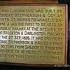 Loco detail plaque - first public steam loco