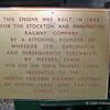 Loco details plaque - A Kitchin loco