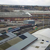 View of Railway Museum storage area from Yorkshire Wheel