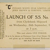 Tickets for launch of Queen Mary (No 534)  26th September 1934