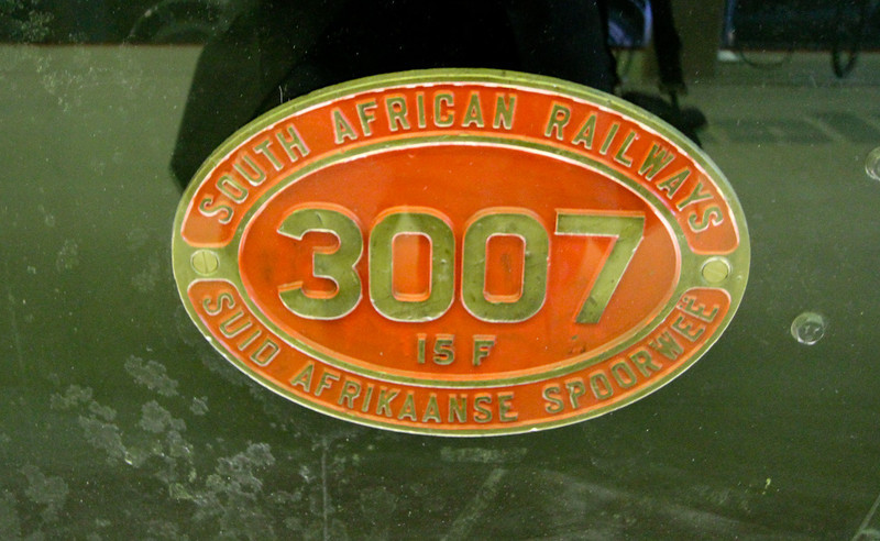 NB built South African Railways loco No 3007 Numberplate