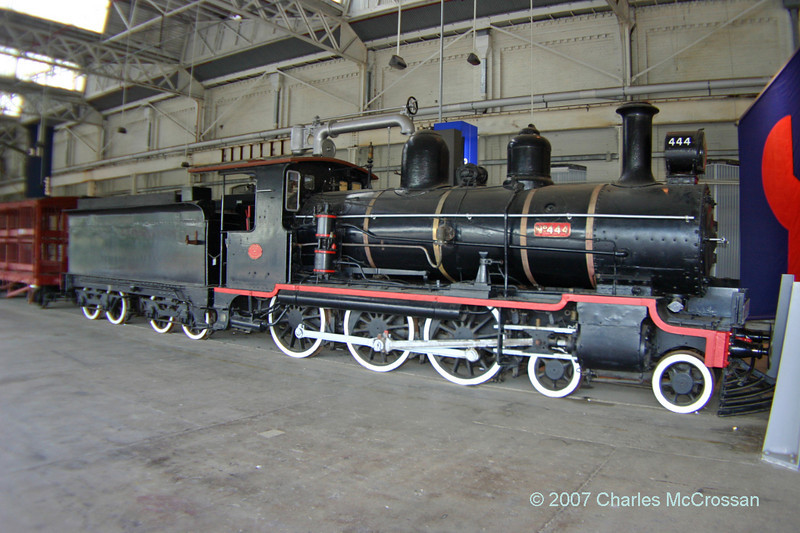 Queensland Railway Class PB15 4-6-0 Number 444<br /> <br />   built by Walkers Limited of Maryborough in 1908 (construction number 89