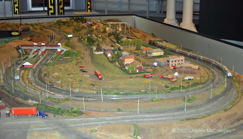 Model railway layout at the Workshop Museum Ipswich