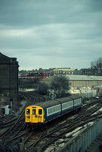 501 155 11.45 Watford Euston At Willseden viewed from High level platforms 3/3/84