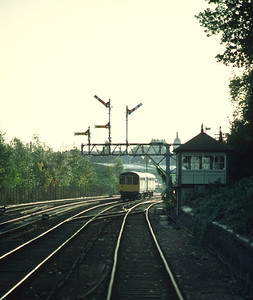 Class 104 DMU 53455 53522 Arriving Upper Holloway 16.15 Gospel Oak barking 20/10/84