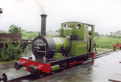"""The stock for the next train is brought in by No 2 """"Dolgoch"""", a 0-4-0T of 1866 vintage and built by Fletcher Jennings of Whitehaven and was built for the line.  Tywyn Wharf station was originally a transshipment point for the slate brought down from the quarries at the head of the line.  It became a station around 1900 and has changed greatly since the preservationists took over."""