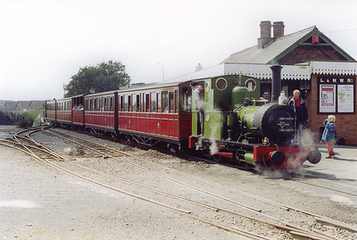 No 2 has dropped onto the train and is coupled on.  The driver looks down the train towards No 6, maybe he wil be expacting a banker out of the station, I can't remember if that happened or not.