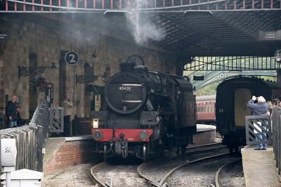 LMS 4-6-0 Class 5MT 45428 Eric Treacy under the roof at Pickering