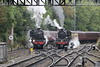 LMS 4-6-0 Class 5MT 45428 and BR 2-6-0 Class 4MT 76079 at Grosmont