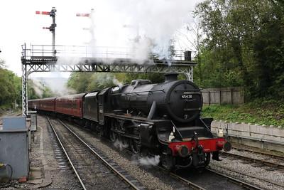 LMS 4-6-0 Class 5MT 45428 Eric Treacy entering Grosmont