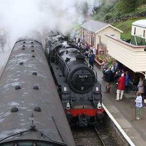 BR 2-6-0 Class 4MT 76079 entering Gothland