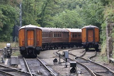 LNER teak carriages at Grosmont