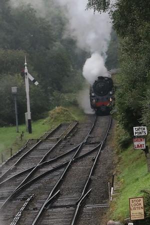 BR 2-6-0 Class 4MT 76079 approaching gothland