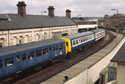 3 different liveries at Gateshead Station  6/6/81