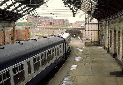 Now no more, the old South Shields Station was fairly seedy in its later years 9/5/81