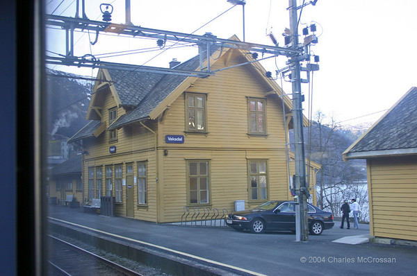 Bergen Station and Railway Trip to Voss/ Myrdal 7th April 2004