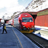 Oslo Bergen train hauled by Electric loco 18 2253 arriving at Myrdal Station