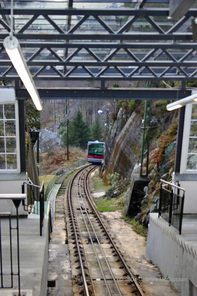 Mount Floyen Funicular railway 5th April 2004