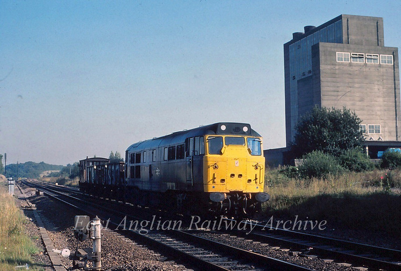 31243 at Haughley Junction. 1st September 1980