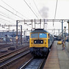 47278 departs Colchester with the 1342 Norwich to Liverpool Street.  15th February 1980.