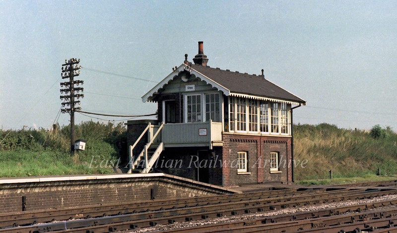 Diss Signal Box. 29th August 1979.