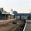 Reedham looking towards Yarmouth and Lowestoft. In the background near the footbridge can be seen the junction signal box.  6th September 1979