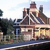 Somerleyton station house in 1966, complete with canopy.