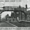 Extract from the Lowestoft Journal indicating the demise of the footbridge and gates at Oulton Broad North. Thanks to Bernie Ward.