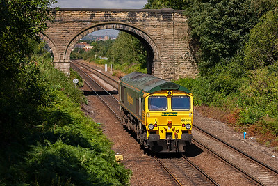 The sun is best suited for trains heading south or light northbound locos.
