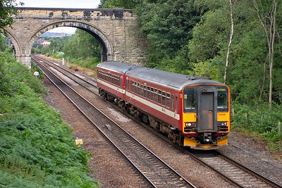 Just south of Oakenshaw Junction, Wakefield, is a footbridge over the line which provides a fine viewpoint for mainly rail freight between Wakefield and Doncaster and points beyond. There are also passenger workings, all class 2 locals.