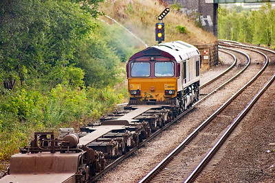 66044 has the road to the right and onto Doncaster at Croft West Junction.