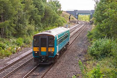 Bubblecar sprinter 153378 forms a class 2 working 2F68 1056 Knottingley to Wakefield Kirkgate.