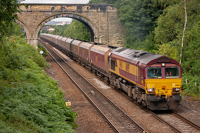 66195 has put in the mileage these last two days, running from West Yorkshire to Ayrshire and back.