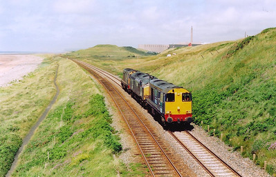 The only DRS working I saw this day was this light engine working from Sellafield to possibly Crewe.  20315 leads 37218 with 20313 runs south and all three were working.
