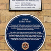 York Zero Post Blue Plaque