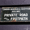 London Midland & Scottish Railway Sign