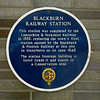 Blackburn Railway Station Blue Plaque