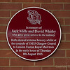 Jack Mills and David Whitby Plaque