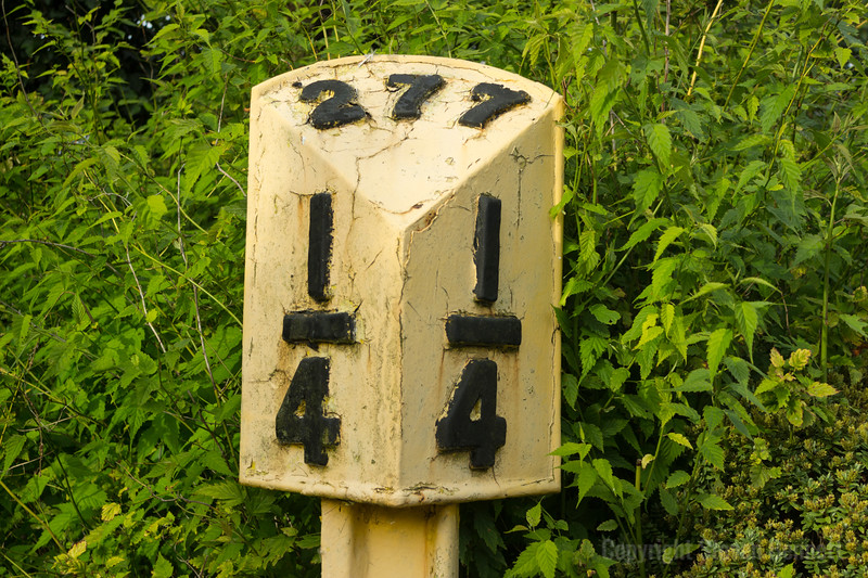 Mile Post Sign