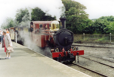 No 11 has arrived at port Erin and has been uncoupled from its stock. It will go onto shed for servicing.