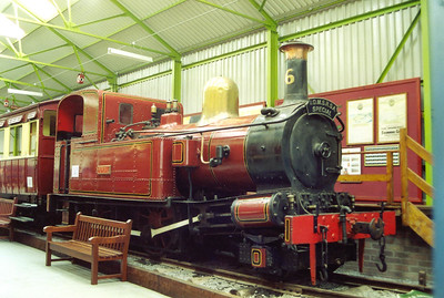 On the 1999 visit, No 4 Loch stood here. But that loco has been removed for overhaul and its place has been taken by No 6 Peveril. It was previously in store in the loco shed at Douglas.