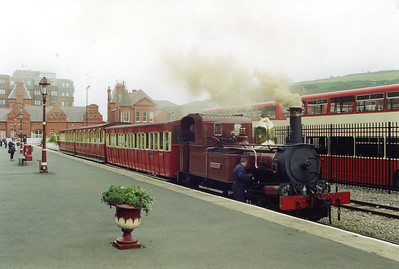 Following a spot of shunting, the driver sets about oiling round his charge, No 1 Sutherland.