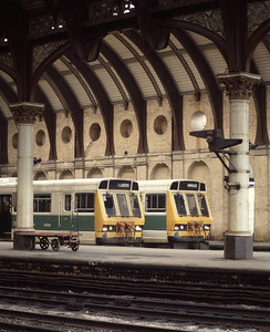 Class 141 units at York, August 85