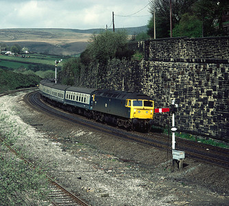 47195 At Marsden with 09.05 Liverpool Scarborough service 14/5/83