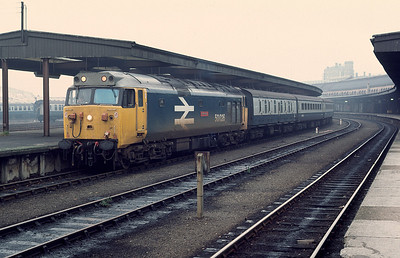 50026 returning to western region after repair at Doncaster  with 14.28 york Plymouth 4/11/83