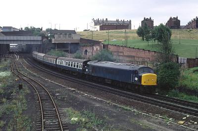 45054 ECS working at Marsh lane Leeds  7/8/82